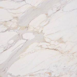 Italian White Gold Calacatta Marble Living Room Floors-1