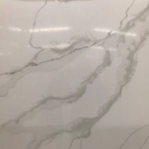 LXSQ6440 Calacatta Mix Quartz Stone Kitchen Countertops 2