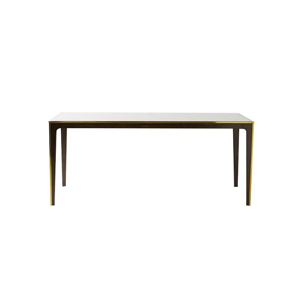 Large Marble Dining Table In Wood Legs-1