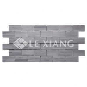 Latin Blue Brick Marble Mosaic Tile For Bathroom Flooring-1