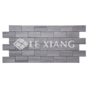 Latin Blue Brick Marble Mosaic Tile For Bathroom Flooring-1