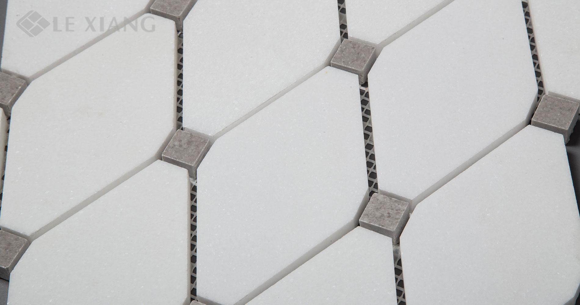 Long-Octagon-White-Thassos-Marble-Mosaic-Tile-Kitchen-Backsplash-2