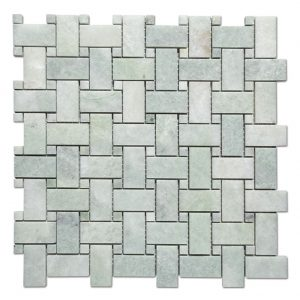 Marble Baske Weaveing Mosaic Tile Ming Green Kitchen Backsplash-1