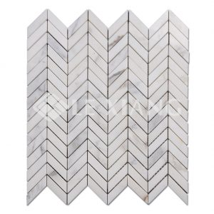 Marble Chevron Mosaic Tile For Kitchen Backsplash And Bathroom Wall-1
