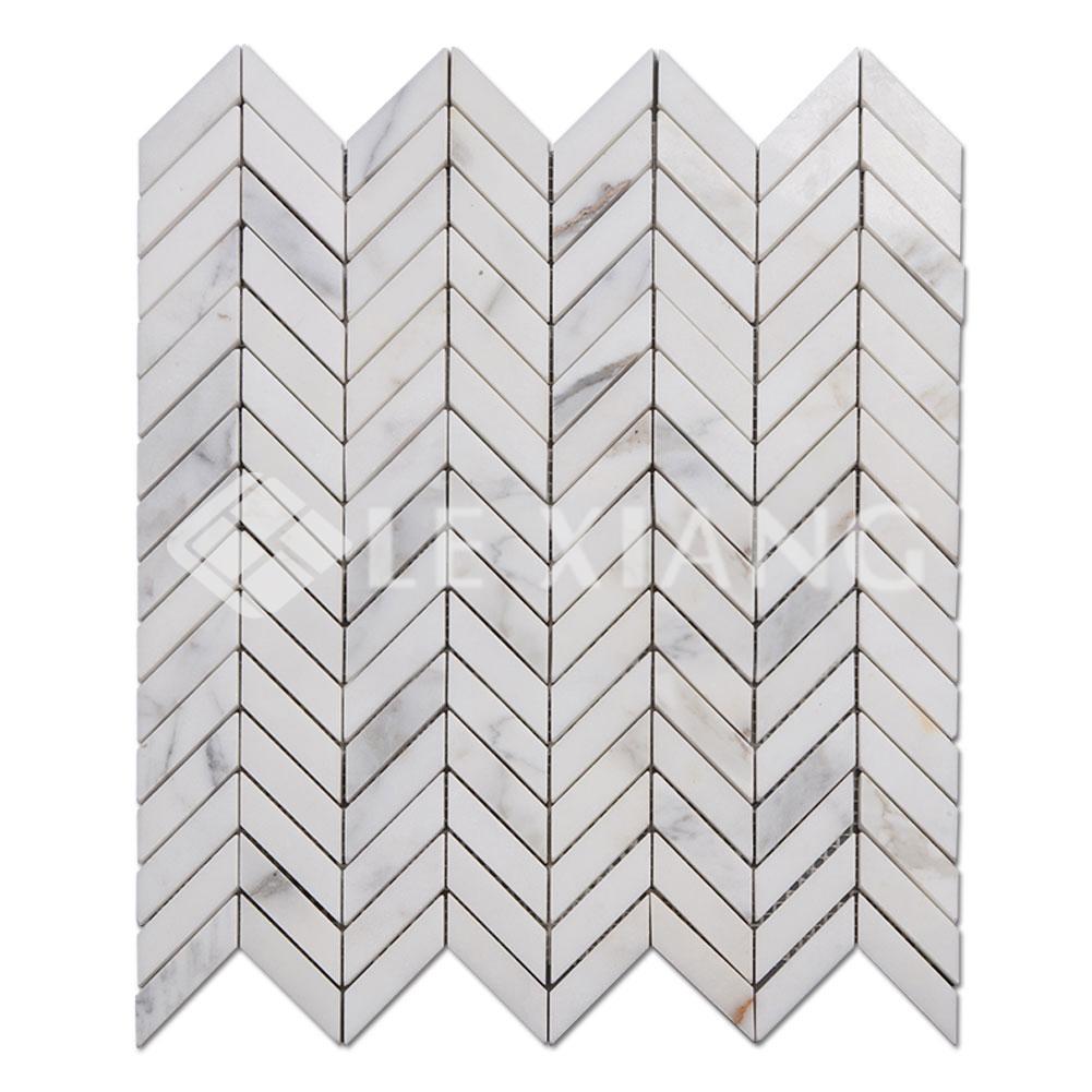 Marble Chevron Mosaic Tile For Kitchen Backsplash And Bathroom Wall Lx M 101