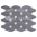 Marble Long Octagon Mosaic Tile Kitchen Backsplash-3
