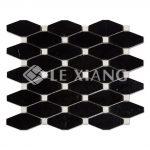 Marble Long Octagon Mosaic Tile Kitchen Backsplash-4