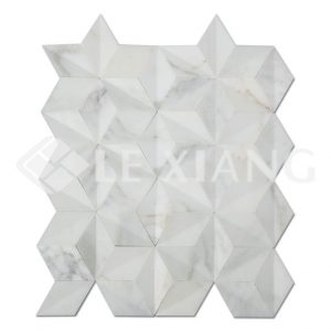Marble Rhombus Mosaic Tile Kitchen Backsplash-1