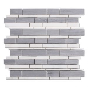 Marble Strip Mosaic Tile For Kitchen Backsplash And Bathroom Floor Backsplash Wall 1-1
