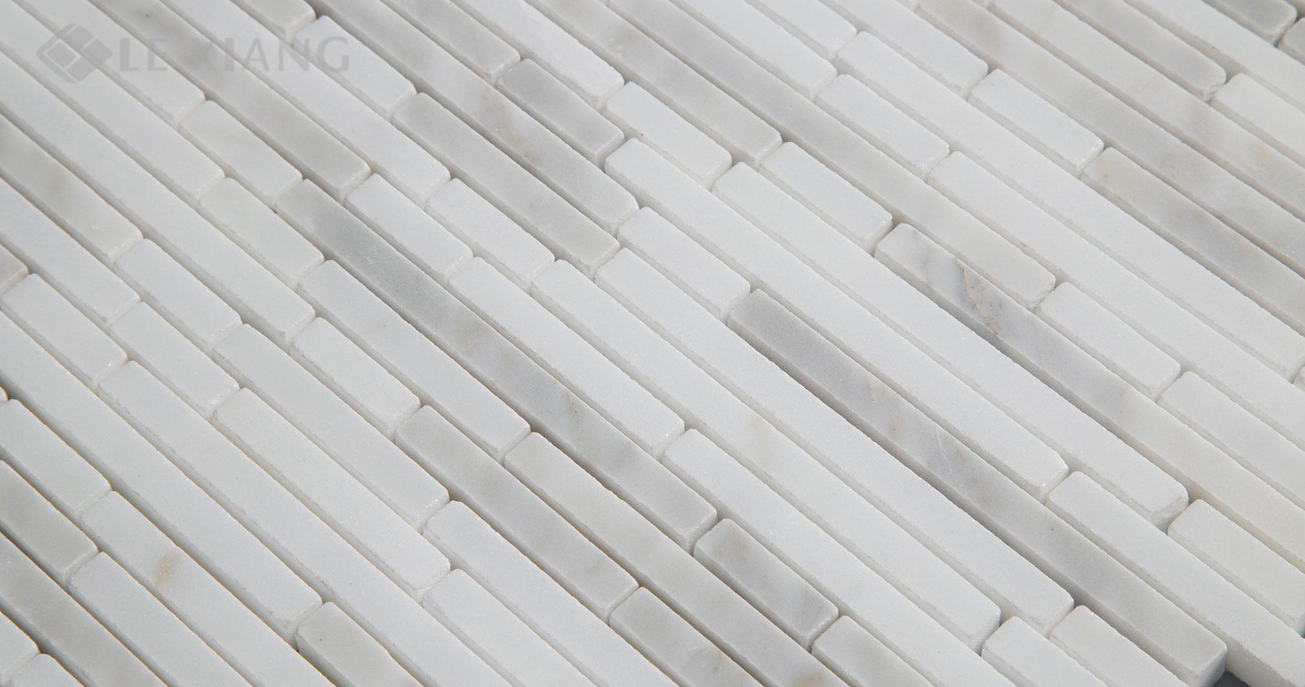 Marble Strip Mosaic Tile For Kitchen Backsplash And Bathroom Floor ...