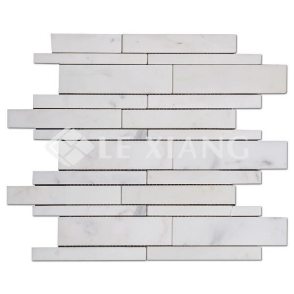 Marble Strip Mosaic Tile For Kitchen Backsplash And Bathroom Floor Backsplash Wall 3-1