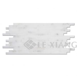 Marble Strip Mosaic Tile For Kitchen Backsplash And Bathroom Floor Backsplash Wall 5-1