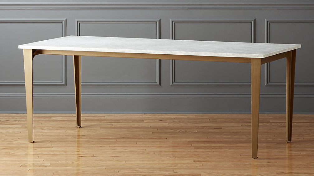 Marble Top Rectangle Dining Table Large 3
