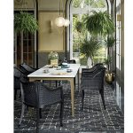 Marble Top Rectangle Dining Table Large-5
