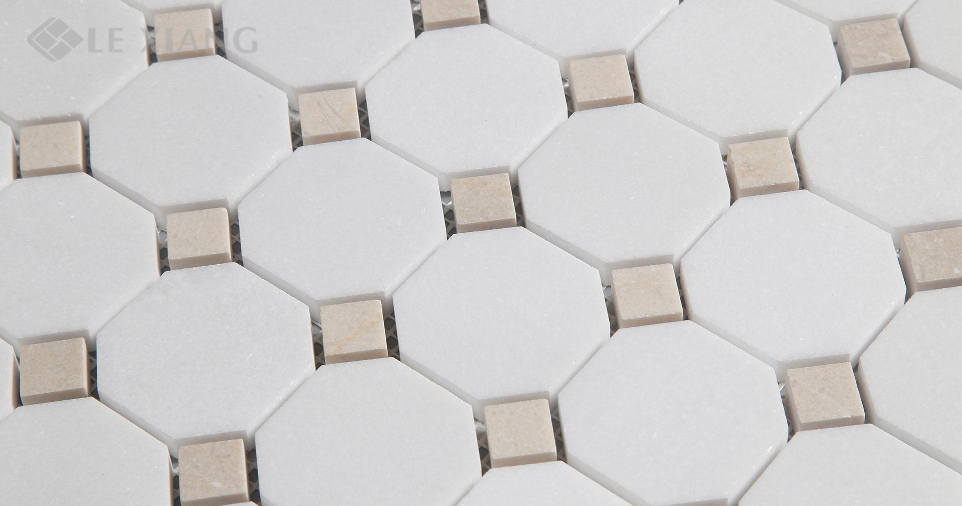 Marble-White-Thassos-Octagon-Mosaic-Tile-For-Kitchen-Backsplash-2