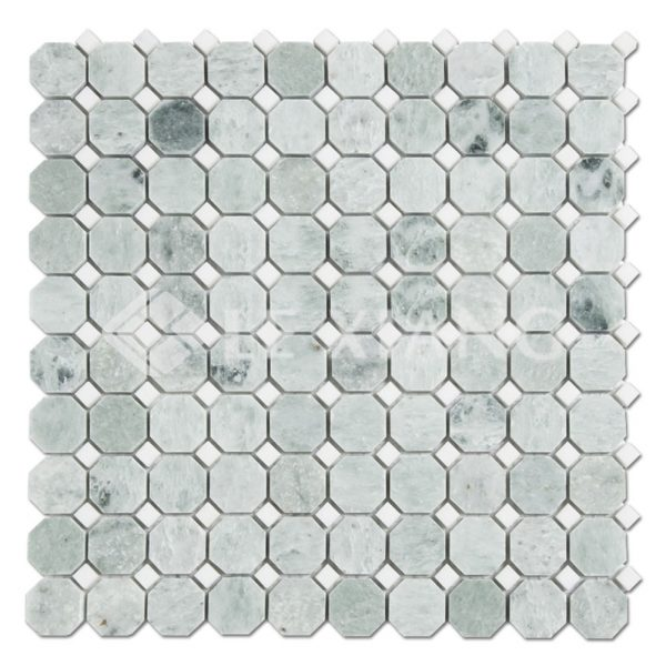 Ming Green Marble Octagon Mosaic Tile For Bathroom Floors-1