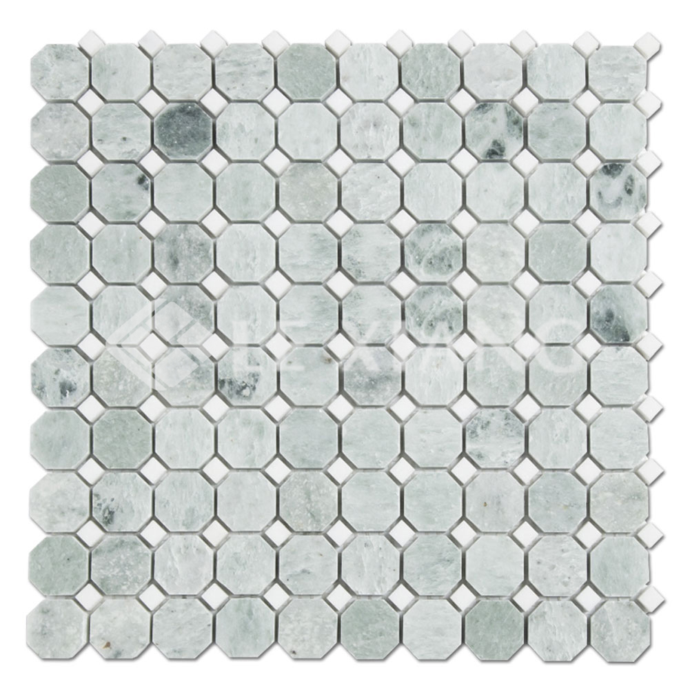 Ming Green Marble Octagon Mosaic Tile