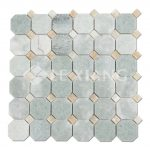 Ming Green Marble Octagon Mosaic Tile For Bathroom Floors-2