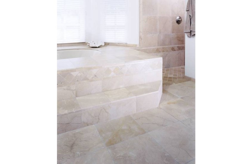 Mixed Gold And Beige Crema Marfil Marble Flooring Tiles