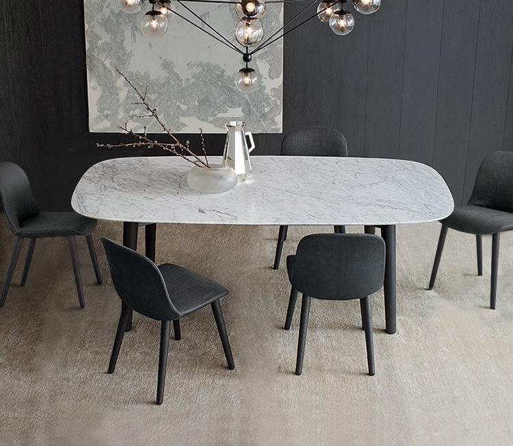 Modern White Marble Dining Table 1