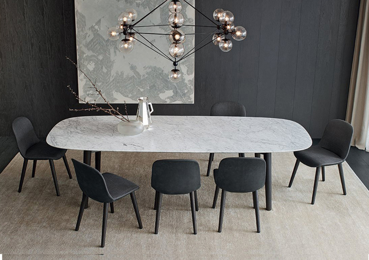 Modern White Marble Dining Table 4