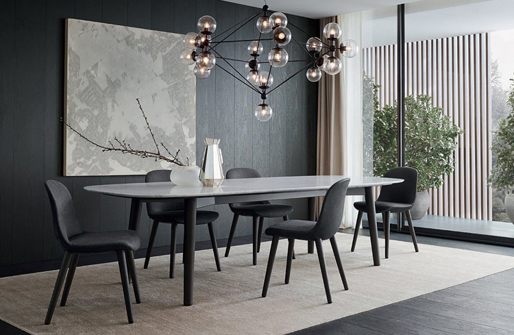 Modern White Marble Dining Table 5