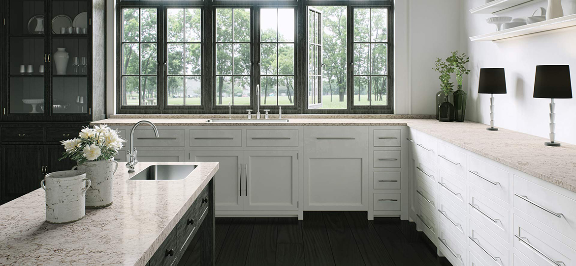 Moorland Fog Best Quartz Bathroom Countertops Sy Bk005