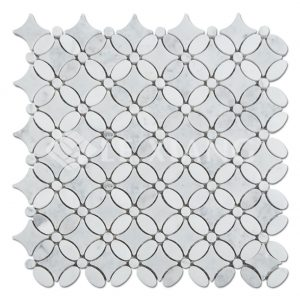 Mumflower Pattern Marble Mosaics Tile-1