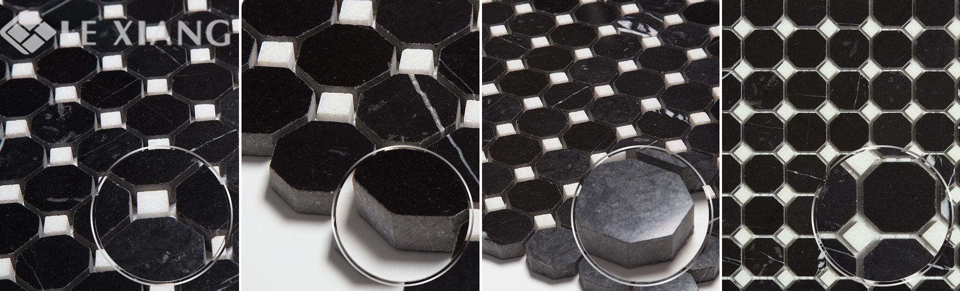 Nero-Marquina-Marble-Octagon-Mosaic-Tile-For-Kitchen-Backsplash-3