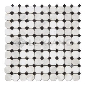 Octagon Calacatta Gold Marble Stone Mosaic Tile-1