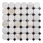Octagon Calacatta Gold Marble Stone Mosaic Tile-2