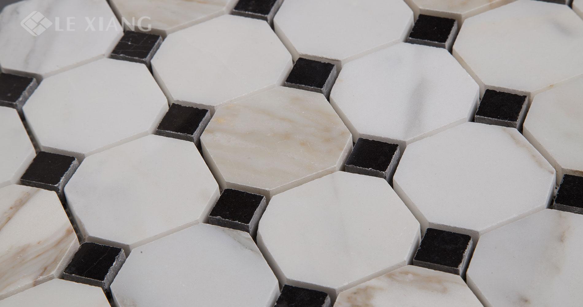Octagon-Calacatta-Gold-Marble-Stone-Mosaic-Tile-3