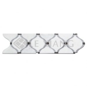 Oriental Arabesque Stone Border Mosaic Tile For Bathroom Wall-1