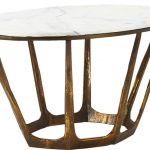 Oval Retro Marble Coffee Table-1