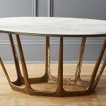 Oval Retro Marble Coffee Table-4