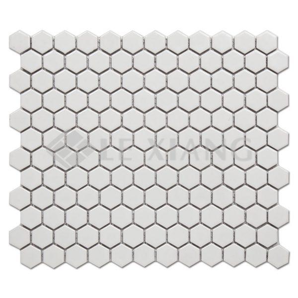 Porcelain Hexagon Mosaic Tile For Bathroom Wall Flooring Tiles-1