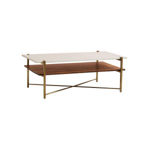 Rectangle Double-layer Marble Top Coffee Table-1