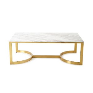 Rectangle White Marble Top Coffee Table-3