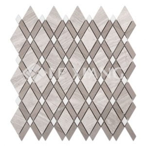 Rhombus Marble Mosaic Tile For Kitchen Backsplash Bedroom-1