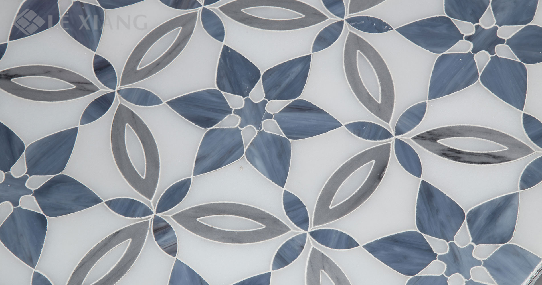 Spring Blossoms Water Jet Cut Stone Mosaic Tile For