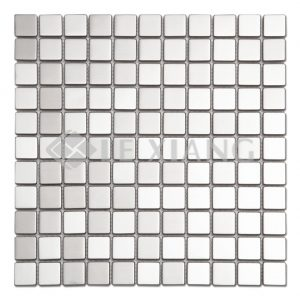Square Stainless Steel Mosaic Tile Kitchen Backsplash-1