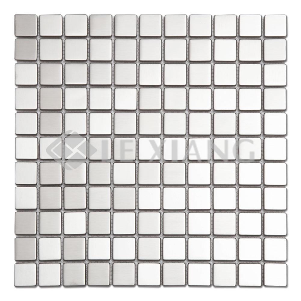 Square Stainless Steel Mosaic Tile Kitchen Backsplash