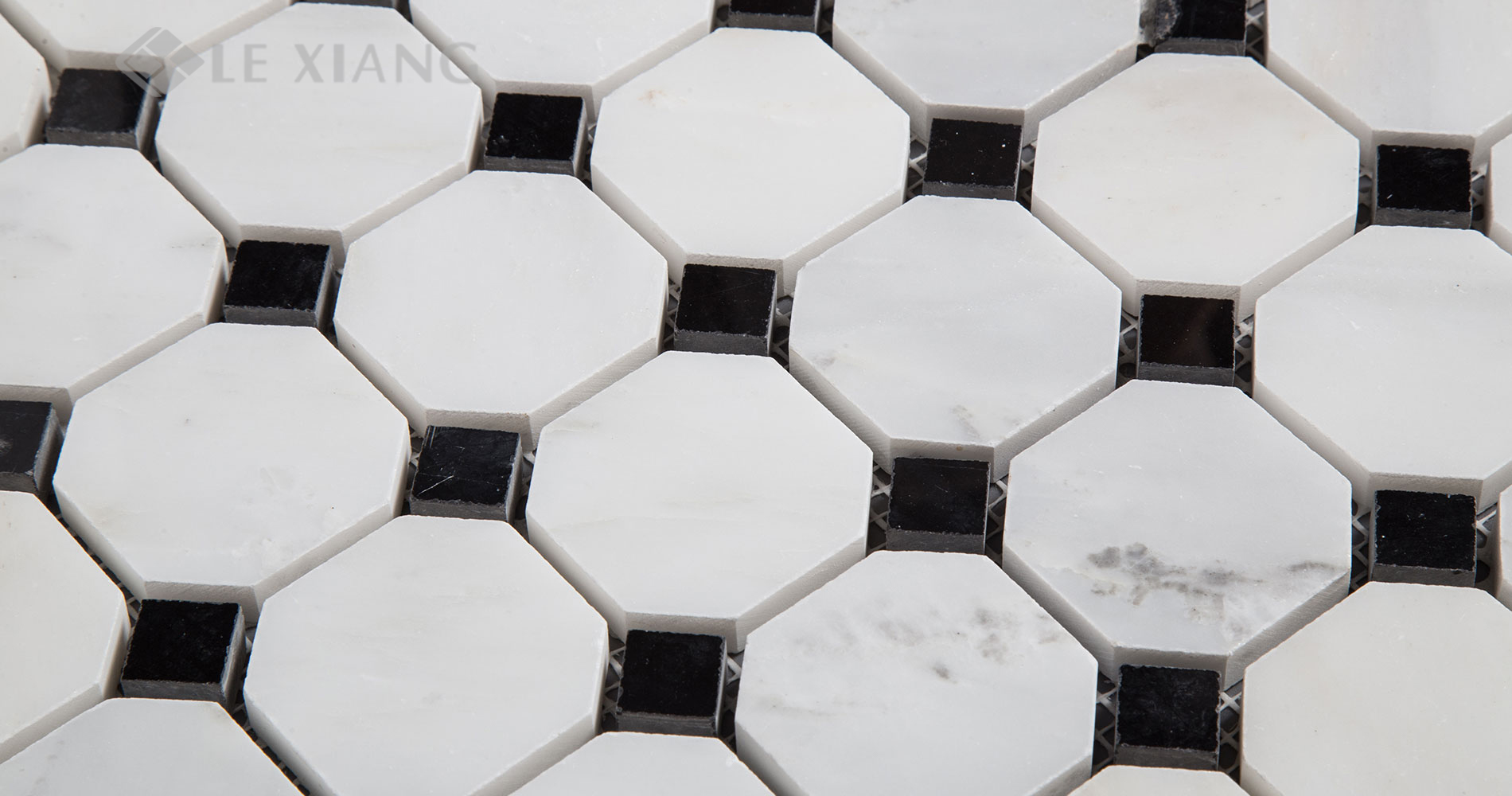 Statuary-White-Marble-Octagon-Mosaic-Tile-For-Bothroom-Floors-4