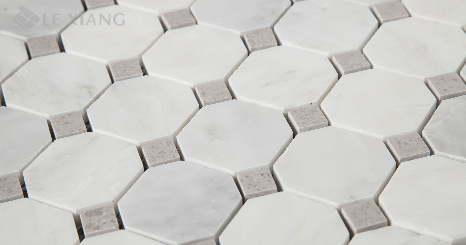 Statuary-White-Marble-Octagon-Mosaic-Tile-For-Bothroom-Floors-6
