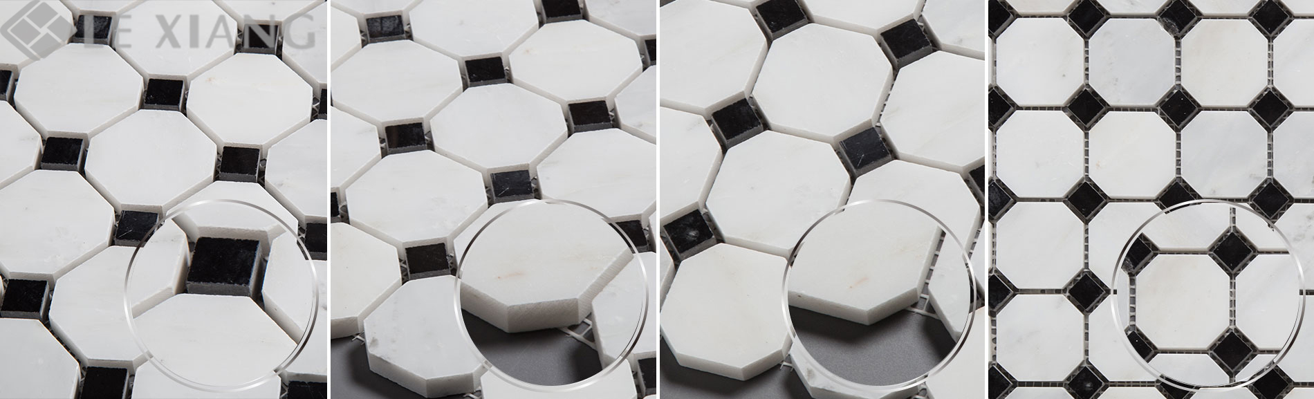 Statuary-White-Marble-Octagon-Mosaic-Tile-For-Bothroom-Floors-7