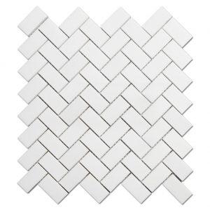 Stone Herringbone Patten Mosaic Tile For Bathroom Flooring-1
