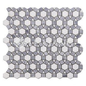 Sunflower Marble Mosaic Tiles For Bathroom Flooring Wall-1