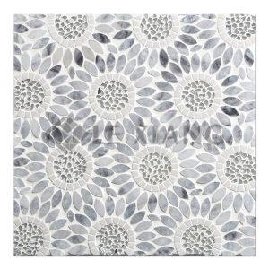Sunflower WaterJet Cut Stone Mosaic Tile For Kitchen Backsplash-4