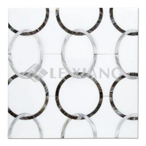 The World Water Cut Stone Water Jet Kitchen Backsplash Mosaic Tile-1