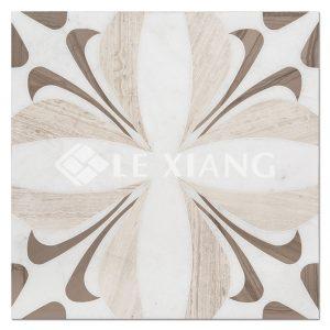 Water Cut Stone Jet Mosaic Tiles For Bathroom Floors Bursting Bloom-1